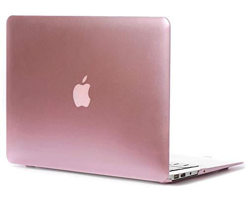 iNeseon Hülle für MacBook Air 13 (A1466 A1369), Ultra dünner Plastik Hartschale Schutzhülle Schalen Case + Tastaturschutz für Apple MacBook Air 13.3 Zoll (2010-2017 veröffentlicht), Gold Rosé