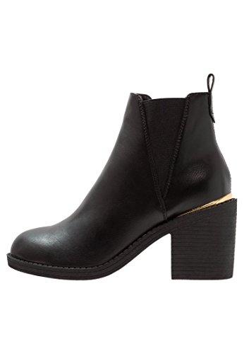 Even&Odd Damen Stiefeletten - Booties mit Blockabsatz – Halbstiefel in Schwarz, Größe 42