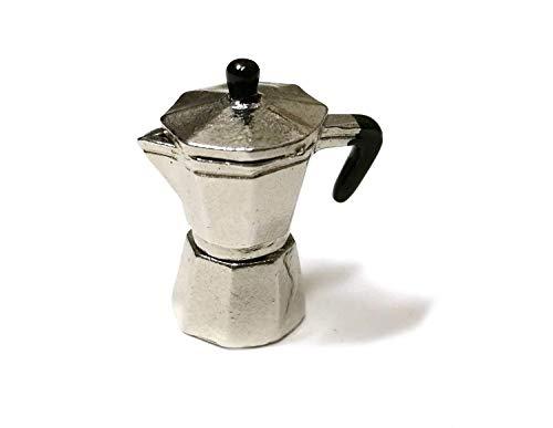 Miniblings Puppenstube Zubehör Espresso Kanne handgemacht Kaffeekanne Puppenhaus Küche