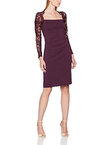 Hot Squash Lace Sleeved, Prom Dress Donna Purple (Damson)