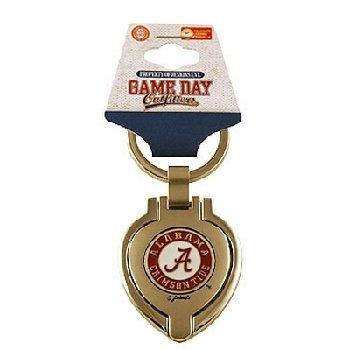 NCAA Alabama Crimson Tide Metal Heart Locket Keychain
