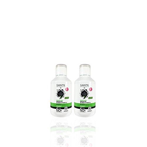 Mundwasser Minze Geschmack (SANTE Mundwasser Vitamin B12 (2 x 300 ml), Salbei und Limone Geschmack, Bio, Vegan, Fluoridhaltig, Naturkosmetik)