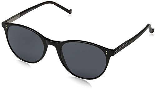 Hackett London Herren Bespoke Sonnenbrille, Schwarz (Black/Grey), 52.0