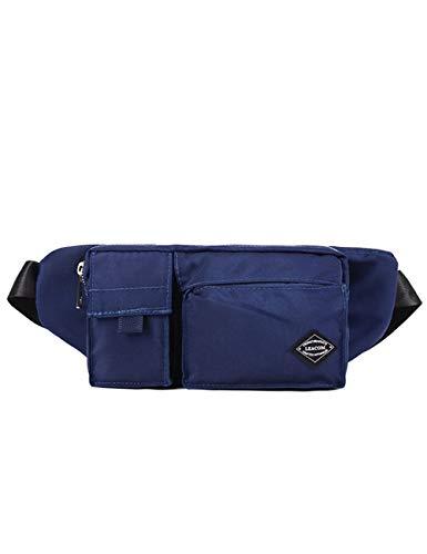LYARA Umhängetasche für Sporttaschen für Herren/Reisetasche für den Außenbereich-blue-Beige
