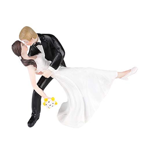 Descripción:       - Coleccionables de boda divertidos adornos de pastelería figuritas muñecas novios - Material de resina de alta calidad, seguridad y sin distorsión ni decoloración. - Buena artesanía, resina fina y hermoso aspecto detallado...
