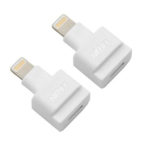 NIUBEE Dock Extender Adapter White 2Pack Ihome Ipod Dock