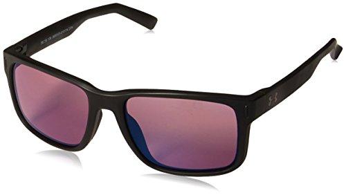 Under Armour UA Assist Square Sunglasses, UA Assist Satin Black/Black/Golf, M/L