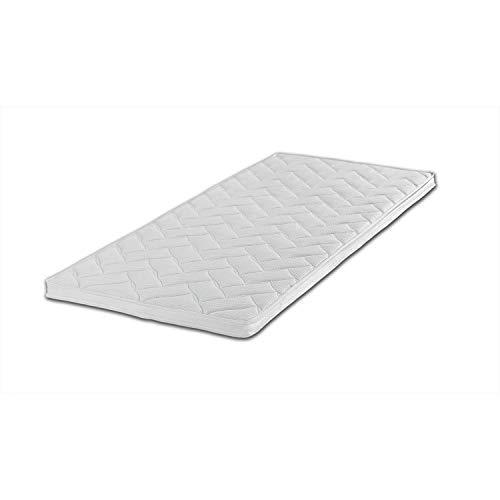Breckle Gelschaum-Topper Robby 7-Zonen-Bohrung Gesamthöhe 7 cm, mit waschbarem Bezug, RG 60 Größe 180x200