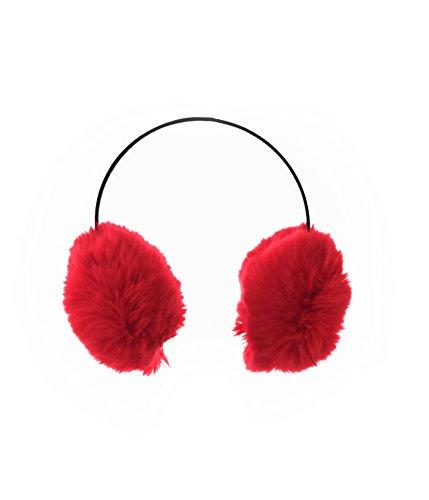 Ohrenwärmer Ohrenschützer Kunstpelz Unisex Einheitsgröße Rot