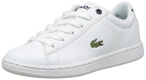 Lacoste Carnaby Evo Bl 1, Formatori Bassi Unisex – Bambini Bianco (Wht/nvy)