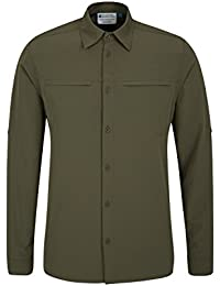 Mountain Warehouse Chemise Homme Manches Longues Voyages Zones Tropicales Anti Moustiques Travelling