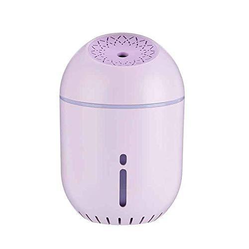 Delidraw USB Humidificador Noche Luz Spray Mini Portátil Grande Capacidad para Hogar Coche Oficina Habitación - Morado