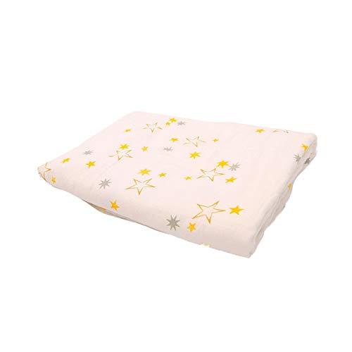 DMMASH Couvertures de bébé Coton Nouveau-né Poussette Couverture Cartoon Motif Wrap Baby Play Tapis Mousseline Swaddle Couverture,Stars,100 * 120cm