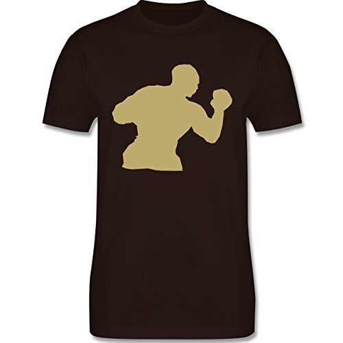 Kampfsport - Boxen - Herren Premium T-Shirt Braun