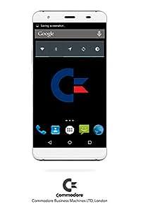 Smartphone Commodore LEO - Android - BIANCO, Display 5'', 16GB Memoria interna espandibile con MicroSD fino a 64GB, 2GB RAM, Fotocamera 16MP, Dual-SIM option