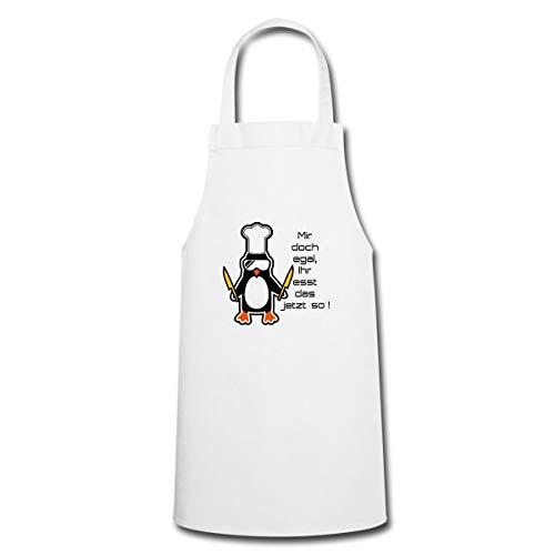 Spreadshirt Ihr Esst Das So Pinguin Kochmütze Lustiger Spruch Kochen Kochschürze, Weiß