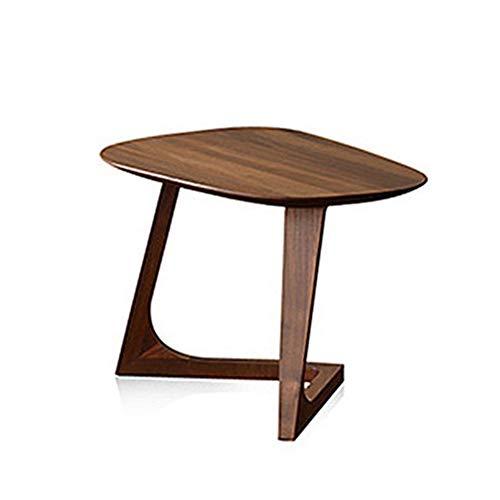 Ynn tavolino da salotto con tavolino triangolare in legno massello (dimensioni : 50 * 38 * 40cm)