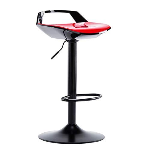 Woll_q sgabello da bar, sgabello alto, stile industriale girevole barstool | vintage beauty chair può sollevare per bar beauty (colore : black-red)