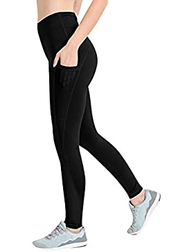 Zarup♥♥♥Mallas Deportivas de Mujer, Mujer Pantalones elásticos de Yoga con Bolsillos Laterales,Yoga Fitness Pantalones...