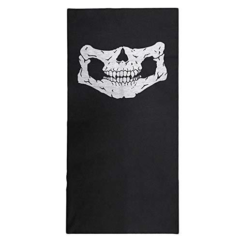 Schädel Sturmhaube Traditionelle Gesichtsschutz Kopfbedeckung Maske Gator Schwarz NWT weiß + schwarz