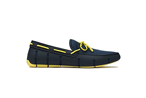 Swims Braided Lace Loafer, Chaussures Bateau Homme Bleu marine/jaune