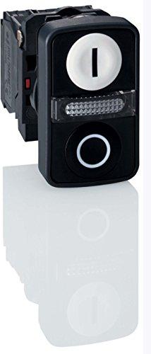 schneider-electric-zb5aw7-a1721-doppio-pulsante-testa-a-filo-bianco-nero-a-filo-illuminato-pulsante-
