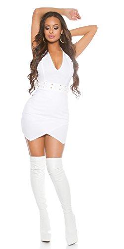 In-Stylefashion - Robe - Dos nu - Femme blanc Weiß taille unique Weiß