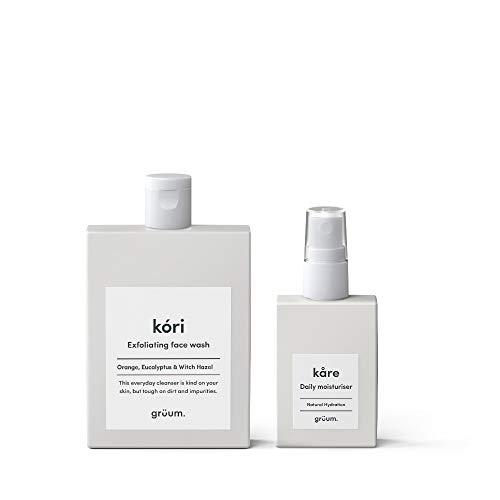 Essential Shave Cream (Grüum Essential Skincare Duo, Containing Exfoliating Face Wash & Hydrating Daily Moisturiser, Natural Ingredients, Skincare Set)
