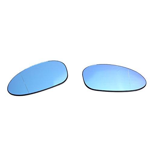 Preisvergleich Produktbild 51167145267 / 51167145268 Rechts + Links Spiegelglas Heizbar Aussenspiegel Set, Blau
