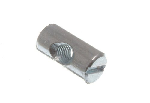 10 Barrel Of Nut für Möbel Bolt Schlitz M6 X 20mm lang Zp