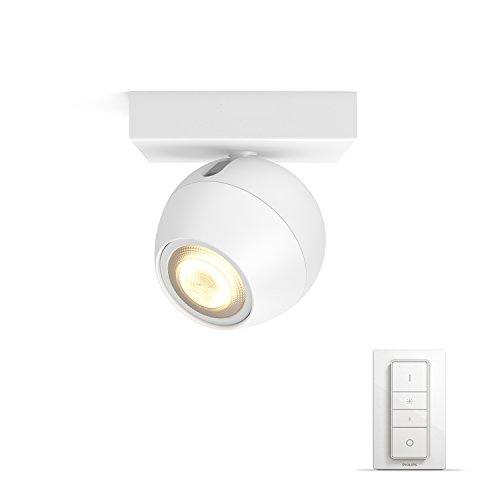 Philips hue White Ambiance Buckram Foco LED con mando a distancia regulador...