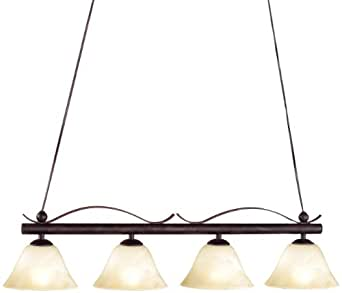 Honsel 70654 lampe suspension m tal vieilli verre - Amazon luminaire suspension ...