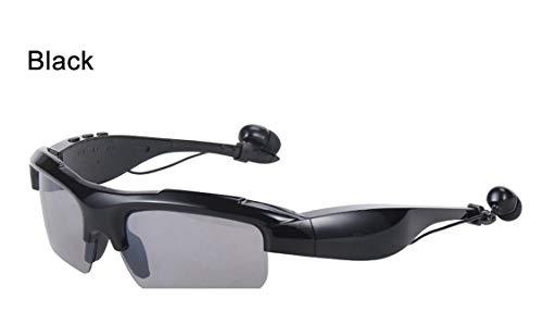WNZL Intelligente drahtlose Bluetooth-Sonnenbrillen 4.1 Musik und Hands-Free Calling Polarisierte Objektive Video-Recording wasserdichte Sportmotorzyklusgläser,Black