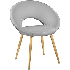 TecTake 402984 – Chaise de Salle à Manger au Design Moderne, Fauteuil de Salon Rembourré et Confort 65 cm x 54 cm x 78…
