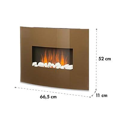 Klarstein Curved Copper L&F • Elektrokamin mit zuschaltbarer Heizfunktion • elektrischer Kamin • E-Kamin • 1000 oder 2000 W • Flammeneffekt • Curved Glass Panel • Timer • Fernbedienung • kupferfarben von Klarstein bei Heizstrahler Onlineshop