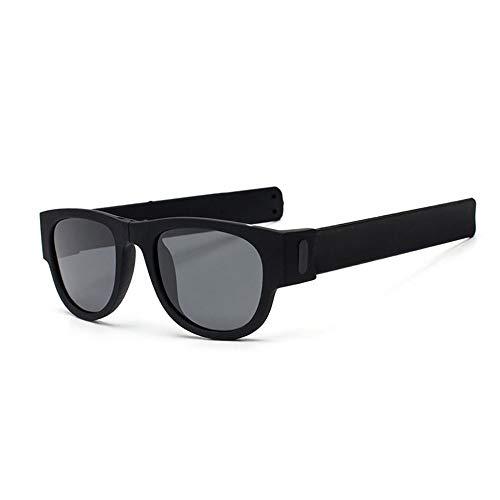 QDE Sonnenbrillen Polarisierte Folding Slap Sonnenbrille Frauen Slappable Armband Sonnenbrille Für Männer Armband Falten Shades, B