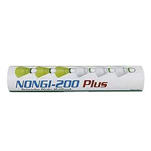 NONGI Plus Plastic Badminton Shuttlecock Pack of 10(White)