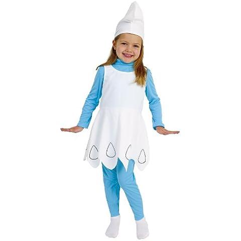 Imps - Disfraz de pitufina para niña (de 3/5 años)