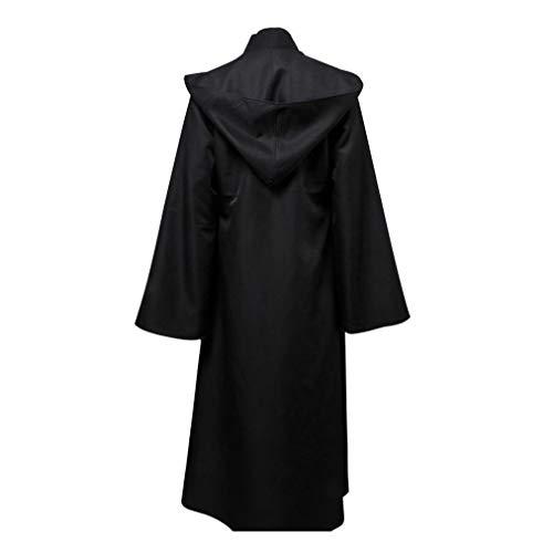 Männer Kostüm Black Ninja - MCKEYEN Dark Jedi Rache Cosplay Kostüm Männer Jedi Ritter Kostüm Männliche Phantasie Kleid Robe