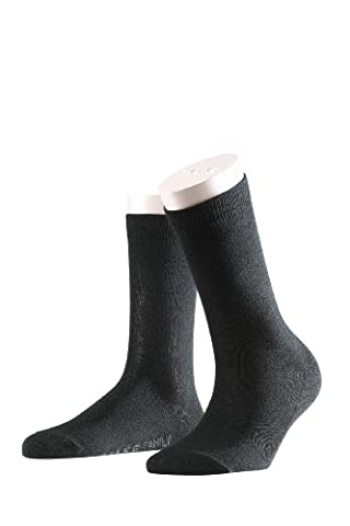 FALKE Damen Socken 47675 Family SO , Gr. 39-42, schwarz (black) Fb/col. 3009