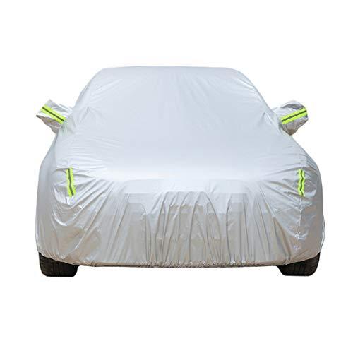 DSISI-Car Cover Autoabdeckung, kompatibel mit Toyota Hilux & atmungsaktiv, für den Innen- und Außenbereich, wasserdicht, Winddicht, UV-beständig, staubdicht, Kratzfest, Vollgarage Silber