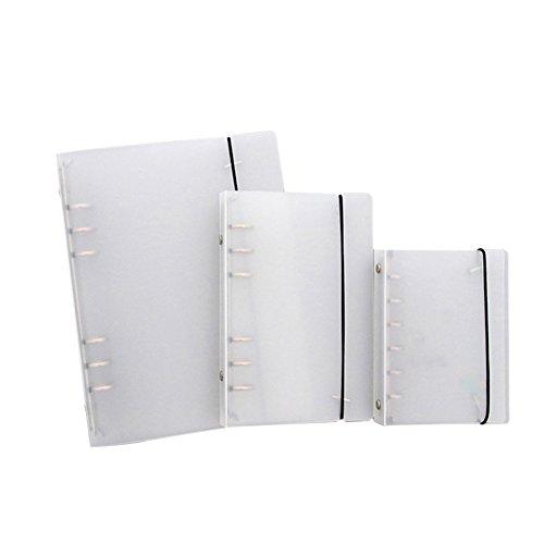 cupcinu® Mehrzweck-durchscheinend Scrub Ring Binder mit Gürtel 6Löcher tragbar Traveler \'s Notebook 3PCS (A5? A6? A7)