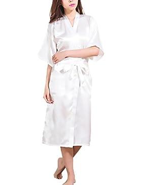 Huixin Donna Vestaglia Sposa Bridesmaid Stampa Di Lettere Elegante Mezza Manica Ragazza Abbigliamento Fashionable...