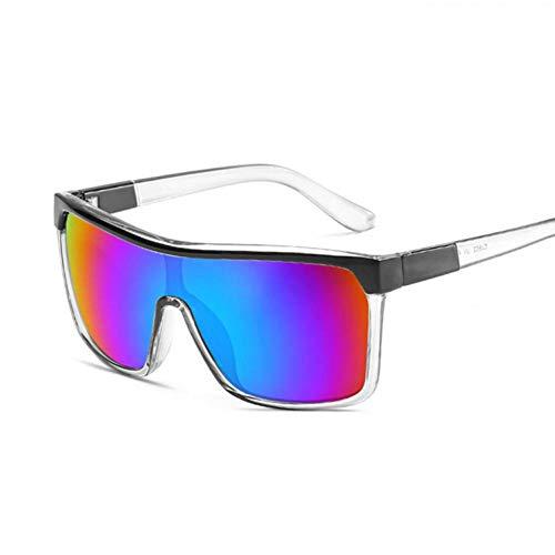 Chudanba Sonnenbrille Männer Frauen Flat Top Sonnenbrille für Frauen Shades Mirror,Green