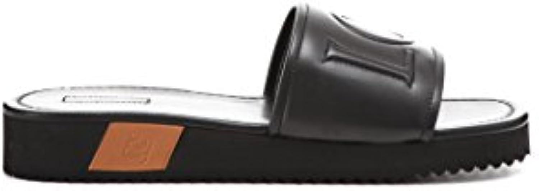 Loewe Herren 453185041329 Schwarz Leder Sandalen