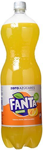 Fanta - Zero Naranja, Refresco con gas, 2 l, Botella de plástico