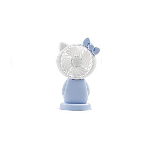 Kompatibel Cyan-box (skoyiyue USB Fan Tragbare Cartoon Big Wind Student Desktop Lade Mini Handheld Kinder Geschenk B Cyan)