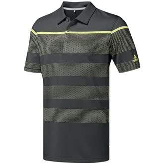 adidas Herren Ultimate 365 Dash Stripe Polo Poloshirt, Grau (Gris Oscuro/Amarillo Dz0520), Medium