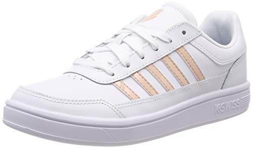 K-Swiss Damen Court Chasseur Sneaker, Weiß (White/Spanishvilla/Wht 190), 40 EU