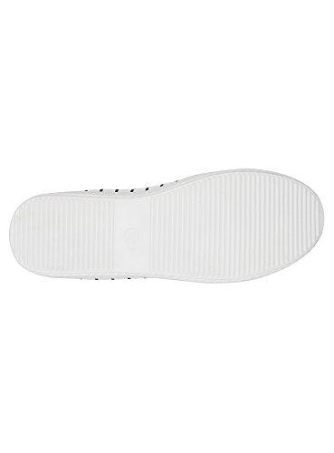 oodji Ultra Femme Slip-on en Textile Imprimé Blanc (1079S)